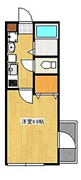 ルネッサ高津[1階]の間取り
