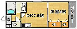 阪急千里線 下新庄駅 徒歩3分の賃貸アパート 1階1DKの間取り