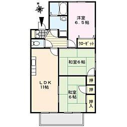 M-HOUSE[101号室]の間取り
