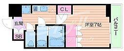 アルティザ淡路駅東 14階1Kの間取り