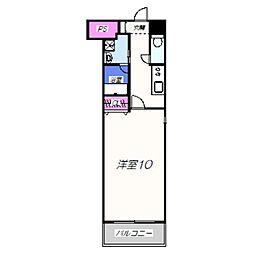 TKアンバーコート深井 2階1Kの間取り