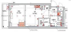 (仮)武蔵小杉フォレストスクエアレジデンス 4階1DKの間取り