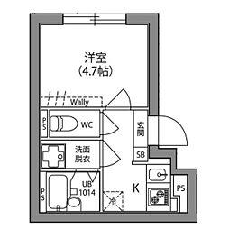 Hi−Five阿佐ヶ谷 1階1Kの間取り
