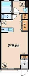 神奈川県川崎市高津区久地4丁目の賃貸アパートの間取り