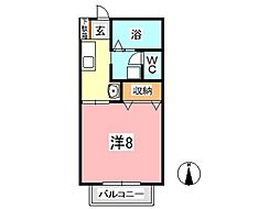 海道[101号室]の間取り
