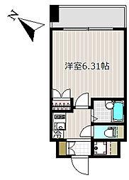 レジディア三越前[4階]の間取り