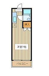 カンガルーマンション[2階]の間取り