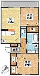 (仮)D-room東町[2階]の間取り