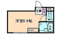 大阪府大阪市淀川区十三本町2丁目の賃貸マンションの間取り