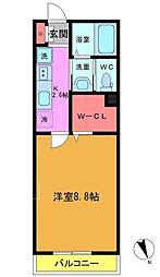 東船橋3丁目共同住宅B棟[103号室]の間取り