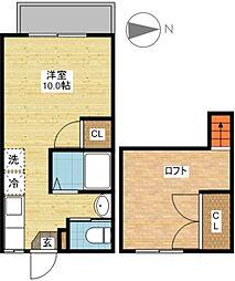 シャル夢館 坂本II[1階]の間取り