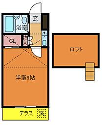 千葉県柏市東3の賃貸アパートの間取り