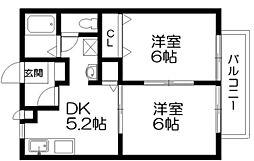 アヴァンスA・B棟[1階]の間取り