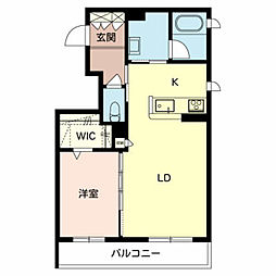 仮称)堺市東区シャーメゾン西野 2階1LDKの間取り