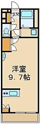 レオネクストヴィーブルIII 55081 1階ワンルームの間取り