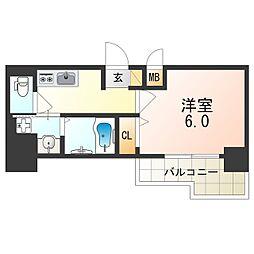 Osaka Metro御堂筋線 東三国駅 徒歩6分の賃貸マンション 9階1Kの間取り