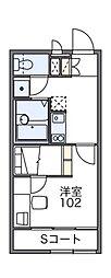 レオパレス マロンハイツ3[1階]の間取り