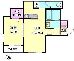 The Residence 田園調布[301号室]の間取り