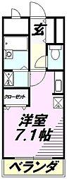 埼玉県所沢市くすのき台3丁目の賃貸マンションの間取り