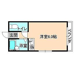 プランタンマンション[2階]の間取り