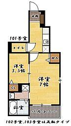 ラ・ルーチェ米原II[1階]の間取り