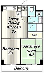 東京都多摩市一ノ宮4丁目の賃貸マンションの間取り