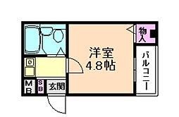 ウィスタリア野田[1階]の間取り