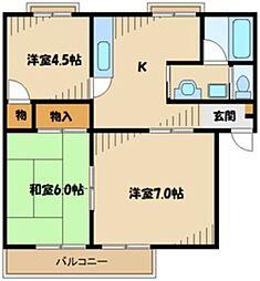 JR横浜線 古淵駅 徒歩10分の賃貸アパート 3階3Kの間取り