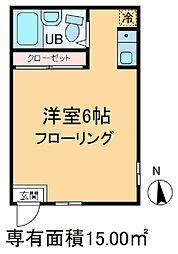 ハイツ吉敷[1階]の間取り