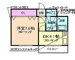 大阪府豊中市春日町3丁目の賃貸マンションの間取り