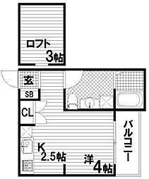 LINX長田[1階]の間取り