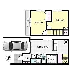 [一戸建] 福岡県福岡市博多区那珂5丁目 の賃貸【/】の間取り