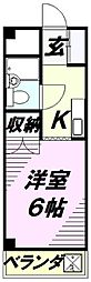 埼玉県所沢市小手指南3丁目の賃貸マンションの間取り