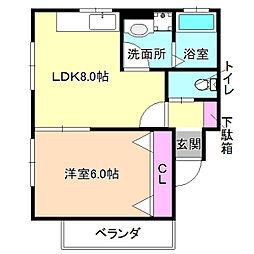 ブリリオ宮之阪[2階]の間取り