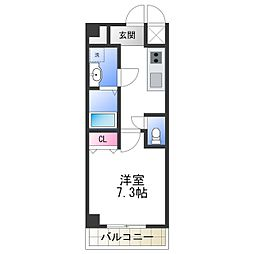 TOYOTOMI STAY Premium 天王寺公園南III 8階1Kの間取り