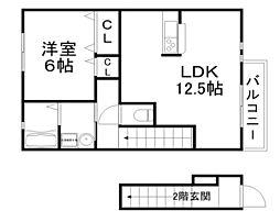 モンヴィーナスC・D・E棟[2階]の間取り