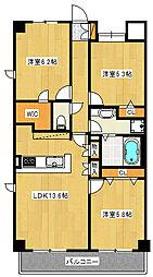 Estaci−on Shinozaki[505号室]の間取り