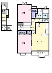 SADAR HILLS I[2階]の間取り