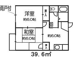 リバーサイド戸田B[105号室]の間取り