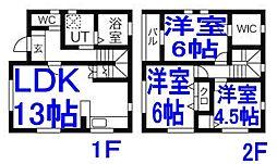 [一戸建] 栃木県小山市大字粟宮 の賃貸【/】の間取り