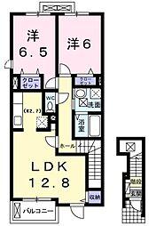 神奈川県横浜市都筑区北山田6丁目の賃貸アパートの間取り