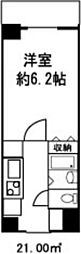 ドミール菊川[713号室]の間取り