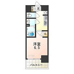 ララプレイス天王寺シエロ 5階1Kの間取り