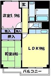 ハイマート宮山台[6階]の間取り