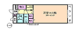 大阪府豊中市上野西1丁目の賃貸マンションの間取り