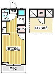 セーヌ松崎[2階]の間取り