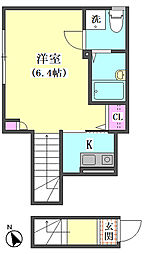 仮)大田区東矢口3丁目1410新築アパート[203号室]の間取り
