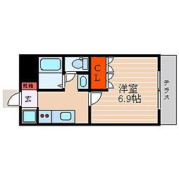 滋賀県彦根市大藪町の賃貸マンションの間取り