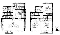 [一戸建] 東京都昭島市宮沢町2丁目 の賃貸【/】の間取り
