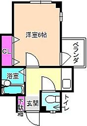 ドリームハイツ長尾[3階]の間取り